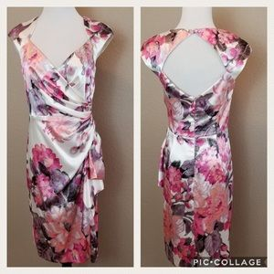 Maggy London floral dress fitted